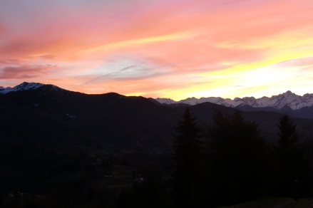 Coucher de soleil sur le mont Valier