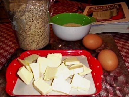 Les ingrédients pour la crème d'amande