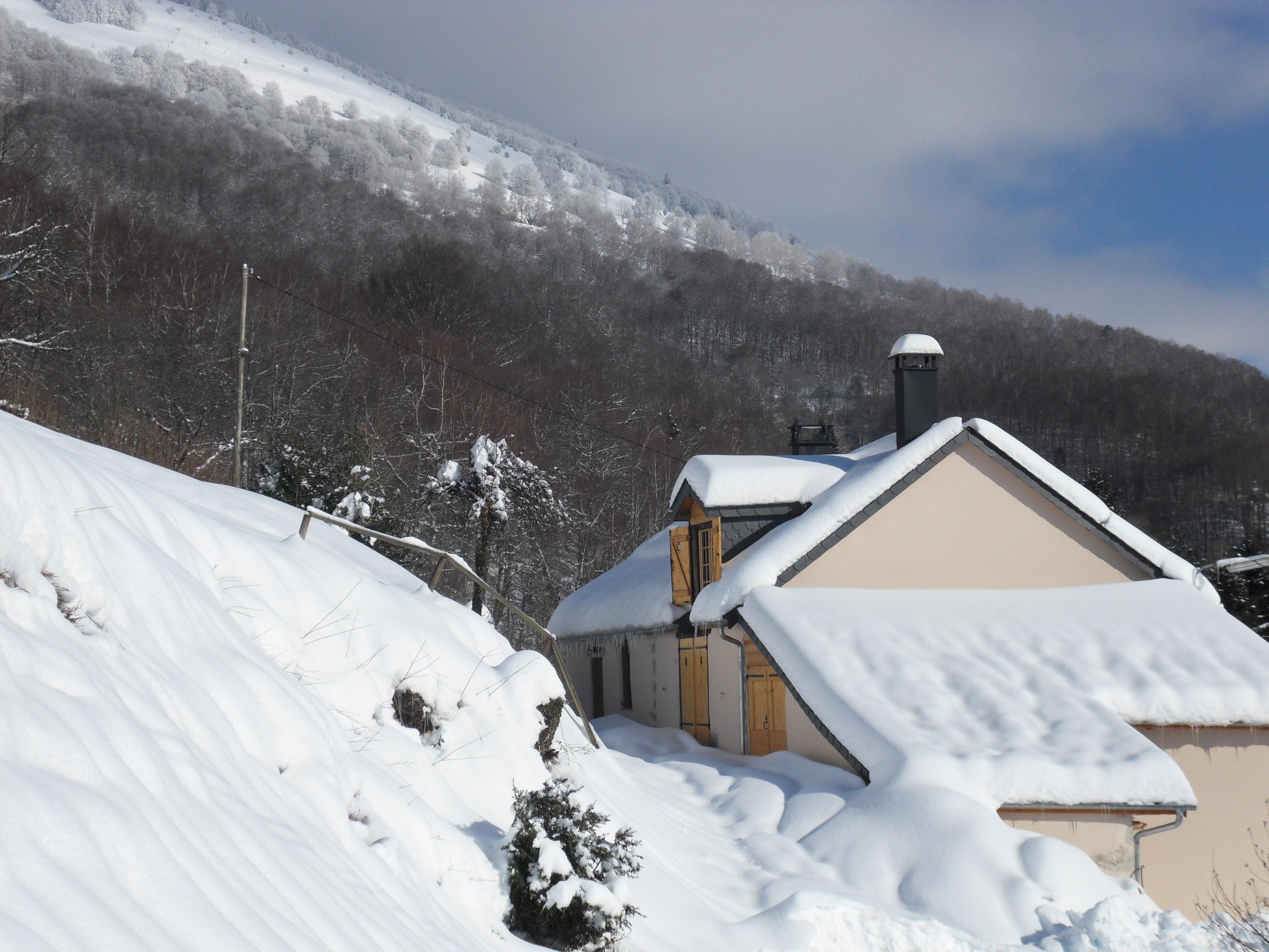 Au Péré… Un beau weekend de neige