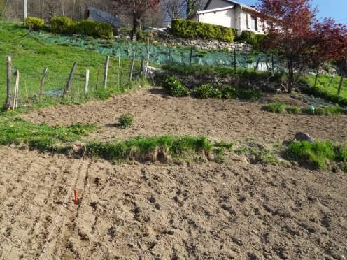 Le jardin prêt pour le printemps