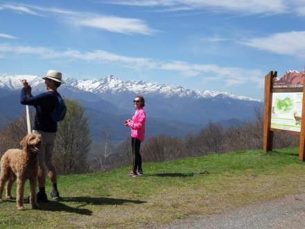 Vue sur le mont Valier depuis Péguère