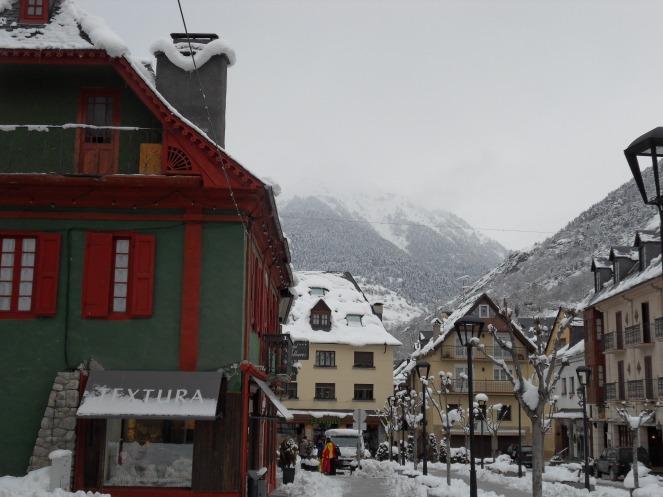 Vielha sous la neige
