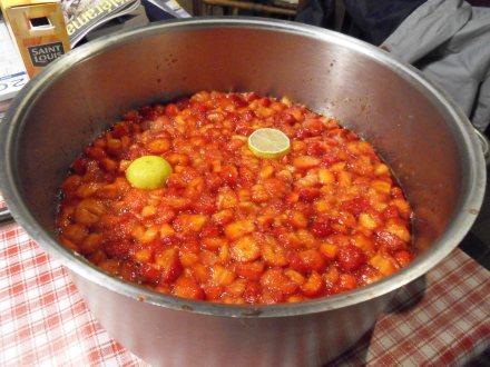 Les fraises pour la confiture