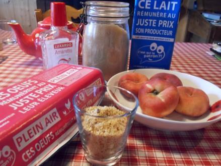 Les ingrédients nécessaires à la réalisation de la recette