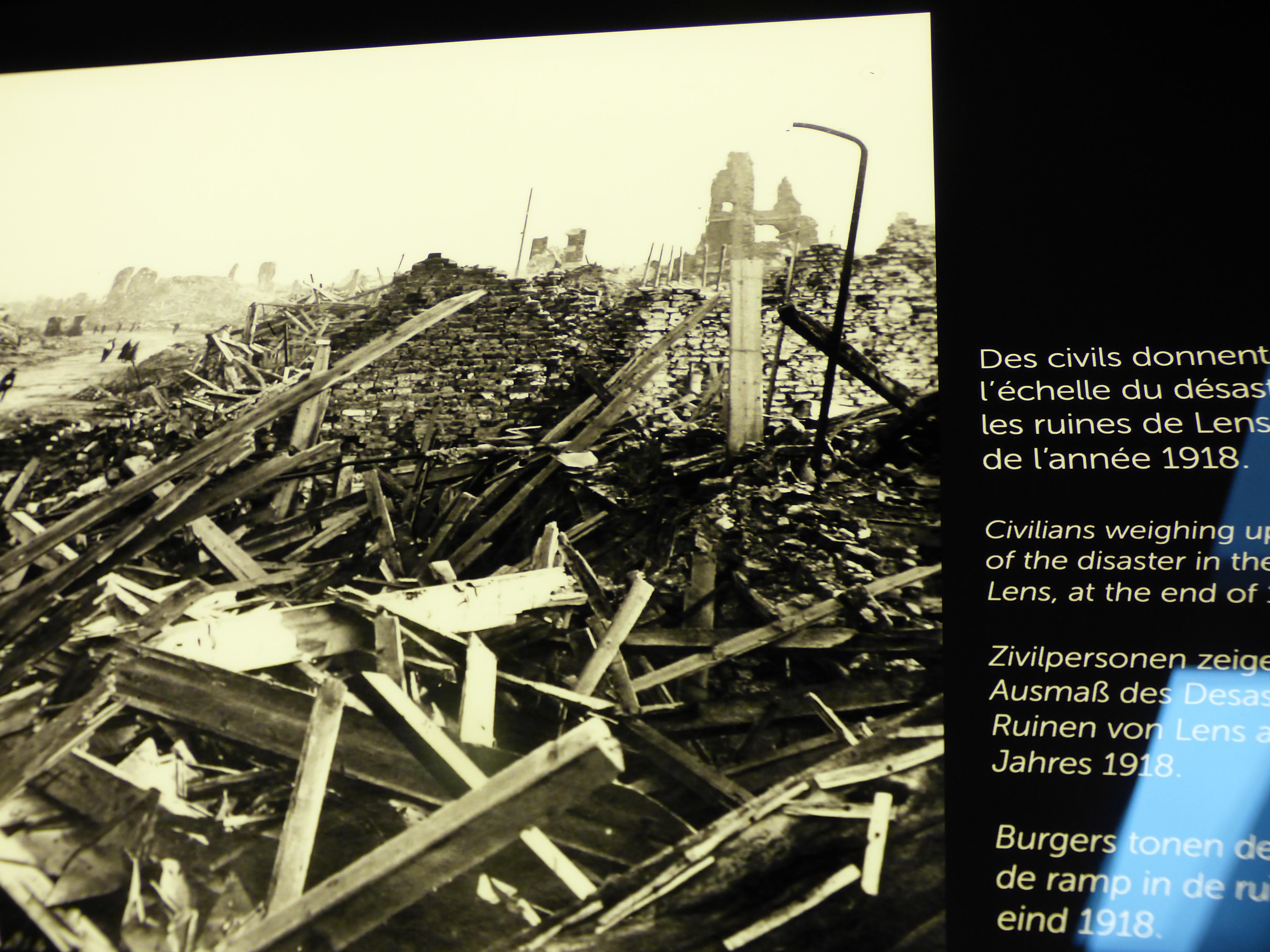 Lens en ruine après la Première guerre mondiale
